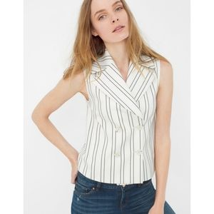 {WHBM} Double-Breated Stripe Vest